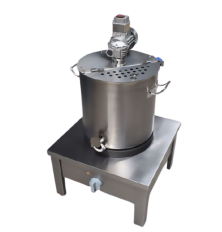 Stainless steel jam cooker with agitator ENS