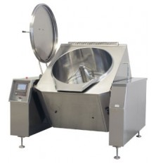 tilting cooking equipment with mixer