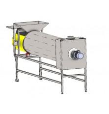 Continuous drum cooler / Grain cooler