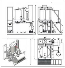 Vacuum fryer VF-350 E NORMIT schema