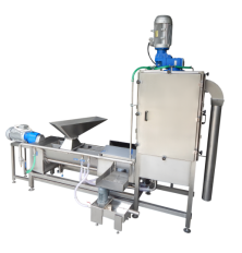 grain washing, hulling and separating machine
