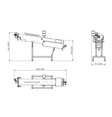 Inclined screw blancher