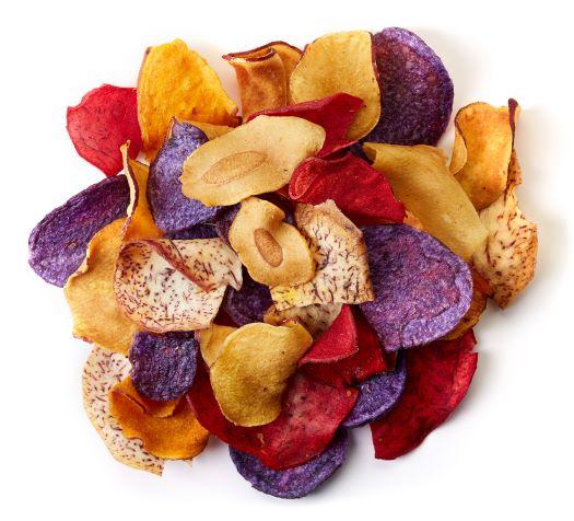 healthy chips in vacuum fryer